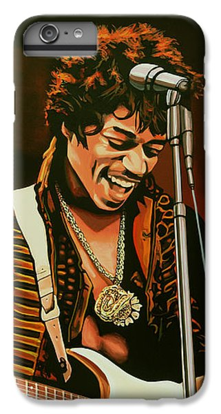 Knight iPhone 6s Plus Case - Jimi Hendrix Painting by Paul Meijering