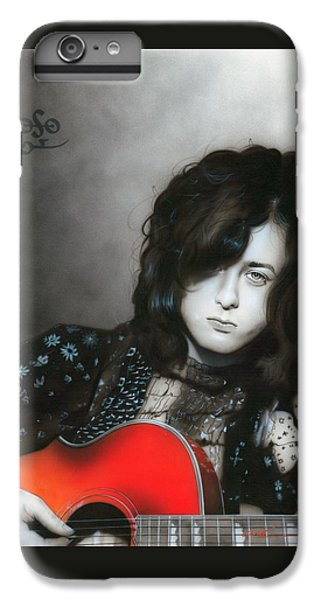 Jimmy Page iPhone 6s Plus Case - Jimmy Page by Christian Chapman Art