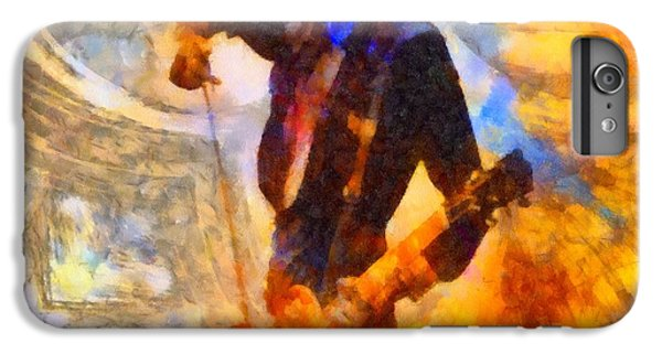 Jimmy Page Playing Guitar With Bow IPhone 6s Plus Case by Dan Sproul