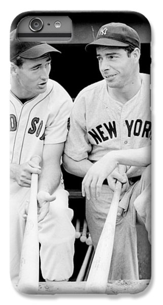 White iPhone 6s Plus Case - Joe Dimaggio And Ted Williams by Gianfranco Weiss