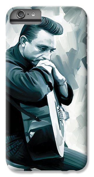 Johnny Cash iPhone 6s Plus Case - Johnny Cash Artwork 3 by Sheraz A