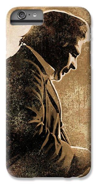 Johnny Cash iPhone 6s Plus Case - Johnny Cash Artwork by Sheraz A