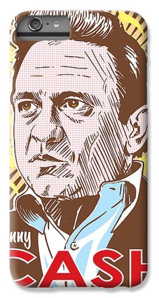 Johnny Cash iPhone 6s Plus Case - Johnny Cash Pop Art by Jim Zahniser