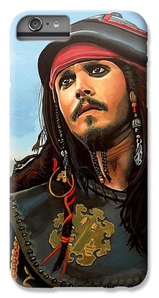 Johnny Depp As Jack Sparrow IPhone 6s Plus Case by Paul Meijering