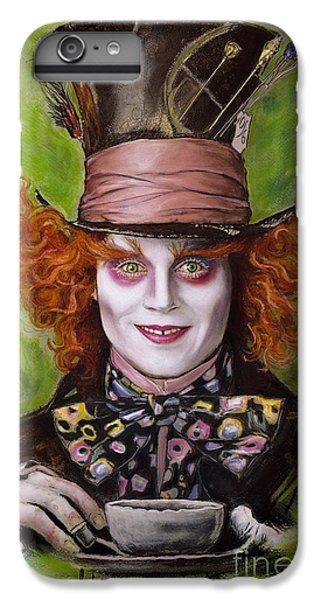 Johnny Depp As Mad Hatter IPhone 6s Plus Case by Melanie D