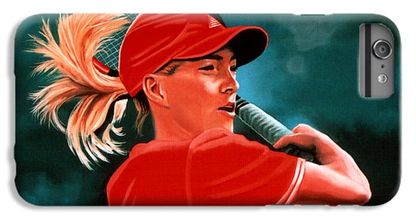 Justine Henin  IPhone 6s Plus Case by Paul Meijering