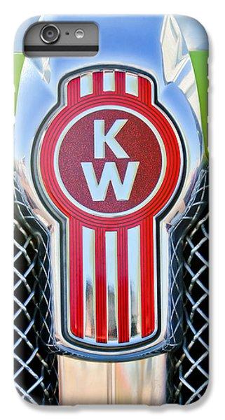 Truck iPhone 6s Plus Case - Kenworth Truck Emblem -1196c by Jill Reger