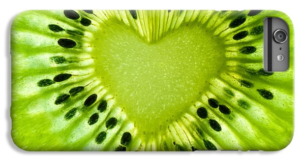 Kiwi iPhone 6s Plus Case - Kiwi Heart by Delphimages Photo Creations