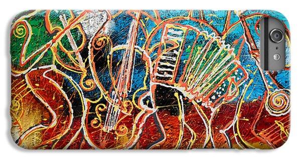 Saxophone iPhone 6s Plus Case - Klezmer Music Band by Leon Zernitsky