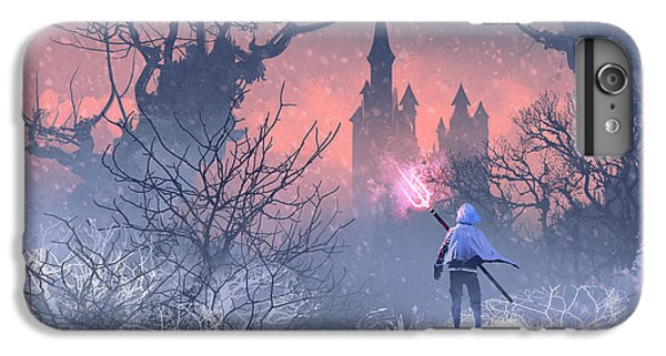 Castle iPhone 6s Plus Case - Knight With Trident In Winter by Tithi Luadthong