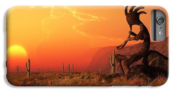 Desert Sunset iPhone 6s Plus Case - Kokopelli Sunset by Daniel Eskridge