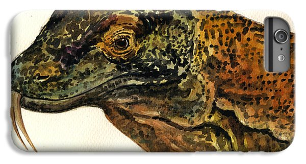 Dragon iPhone 6s Plus Case - Komodo Monitor by Juan  Bosco
