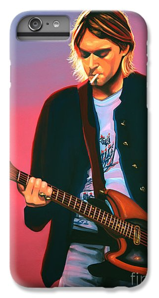 Kurt Cobain In Nirvana Painting IPhone 6s Plus Case by Paul Meijering