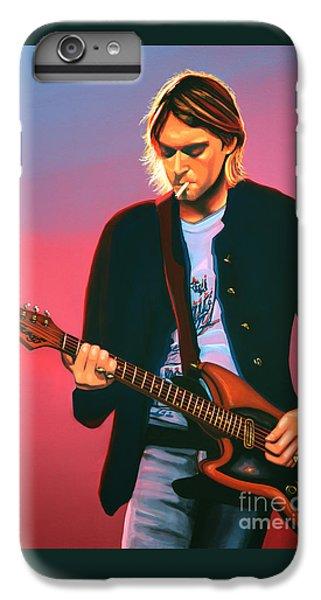 Seattle iPhone 6s Plus Case - Kurt Cobain In Nirvana Painting by Paul Meijering