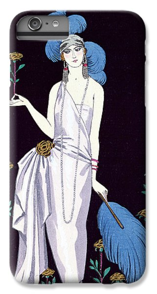 Ostrich iPhone 6s Plus Case - 'la Roseraie' Fashion Design For An Evening Dress By The House Of Worth by Georges Barbier
