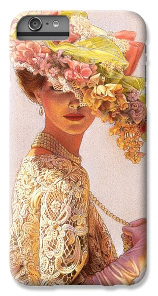 Floral iPhone 6s Plus Case - Lady Victoria Victorian Elegance by Sue Halstenberg