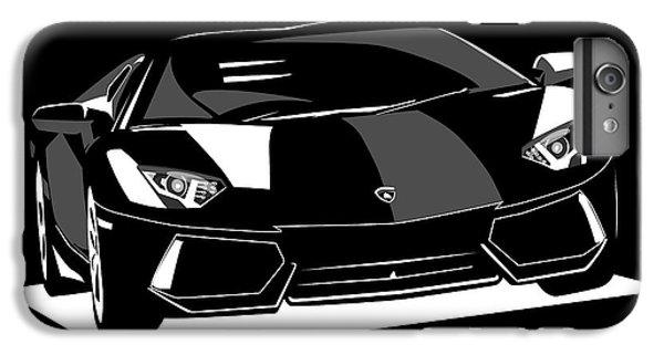 Car iPhone 6s Plus Case - Lamborghini Aventador by Michael Tompsett