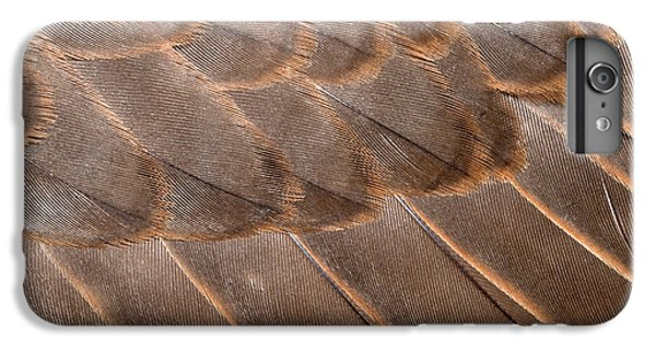 Lanner Falcon Wing Feathers Abstract IPhone 6s Plus Case by Nigel Downer