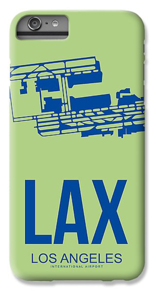 Airplane iPhone 6s Plus Case - Lax Airport Poster 1 by Naxart Studio