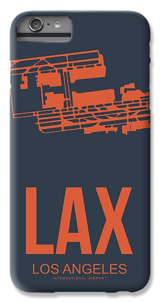 Airplane iPhone 6s Plus Case - Lax Airport Poster 3 by Naxart Studio