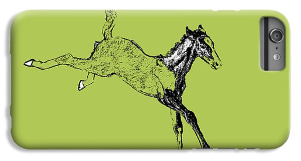 Horse iPhone 6s Plus Case - Leaping Foal Greens by JAMART Photography