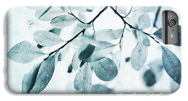 Nature iPhone 6s Plus Case - Leaves In Dusty Blue by Priska Wettstein