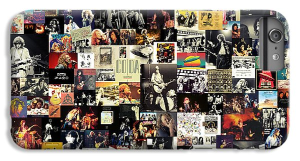 Rock And Roll iPhone 6s Plus Case - Led Zeppelin Collage by Zapista