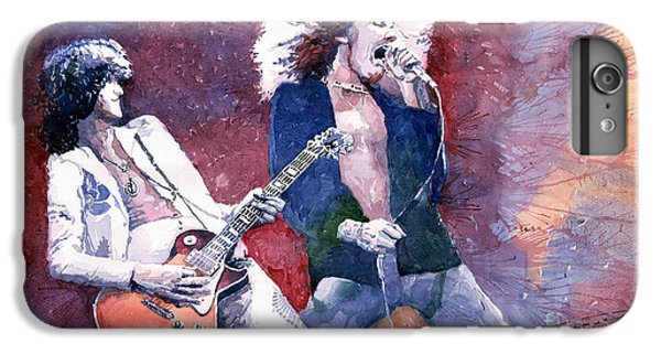 Musicians iPhone 6s Plus Case - Led Zeppelin Jimmi Page And Robert Plant  by Yuriy Shevchuk