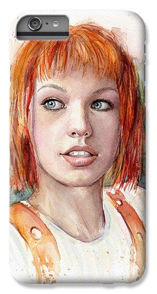 Leeloo Portrait Multipass The Fifth Element IPhone 6s Plus Case by Olga Shvartsur