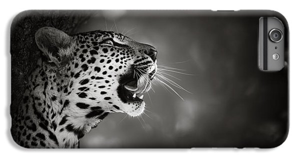 White iPhone 6s Plus Case - Leopard Portrait by Johan Swanepoel