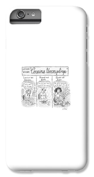 Coldplay iPhone 6s Plus Case - Lesser-known 'conscious Uncouplings Three Panels by Roz Chast