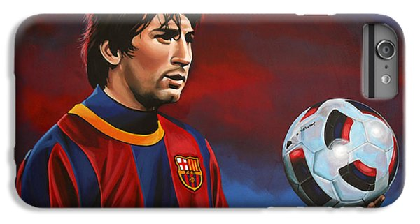 Lionel Messi 2 IPhone 6s Plus Case by Paul Meijering