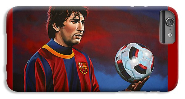 Soccer iPhone 6s Plus Case - Lionel Messi 2 by Paul Meijering