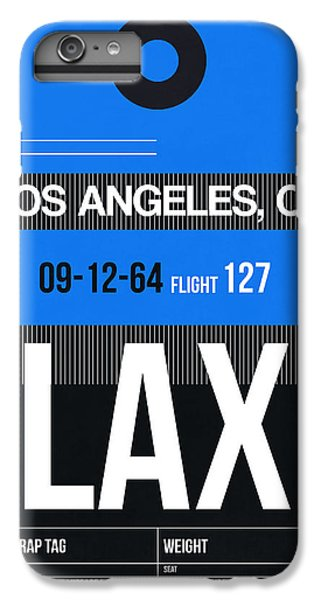 Los Angeles iPhone 6s Plus Case - Los Angeles Luggage Poster 3 by Naxart Studio