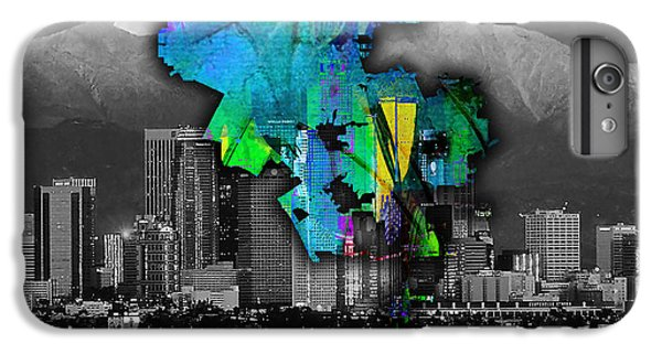 Los Angeles Map And Skyline Watercolor IPhone 6s Plus Case by Marvin Blaine