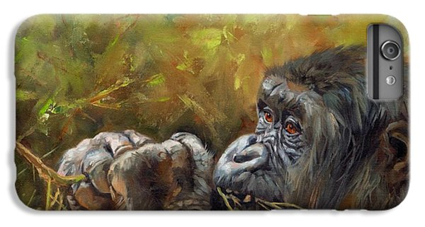 Lowland Gorilla 2 IPhone 6s Plus Case by David Stribbling