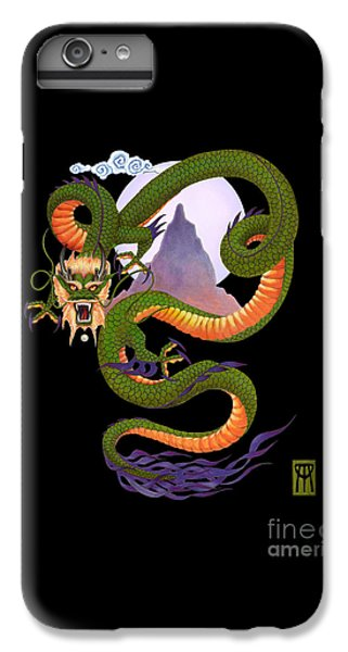 Dragon iPhone 6s Plus Case - Lunar Chinese Dragon On Black by Melissa A Benson