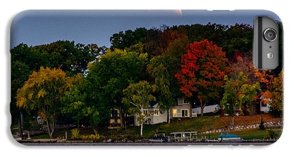 Lunar Eclipse Over Pewaukee Lake IPhone 6s Plus Case by Randy Scherkenbach