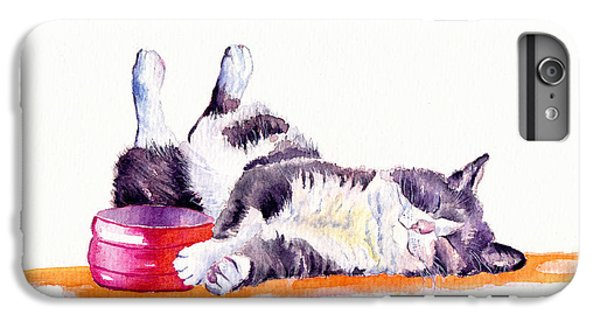 Cat iPhone 6s Plus Case - Lunch Break by Debra Hall