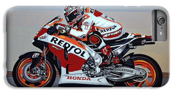 Motorcycle iPhone 6s Plus Case - Marc Marquez by Paul Meijering