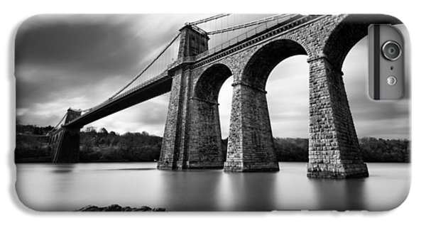 White iPhone 6s Plus Case - Menai Suspension Bridge by Dave Bowman