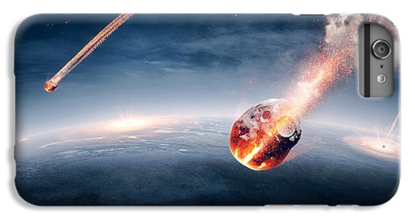 Explosion iPhone 6s Plus Case - Meteorites On Their Way To Earth by Johan Swanepoel