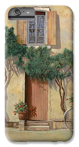 Bicycle iPhone 6s Plus Case - Mezza Bicicletta Sul Muro by Guido Borelli
