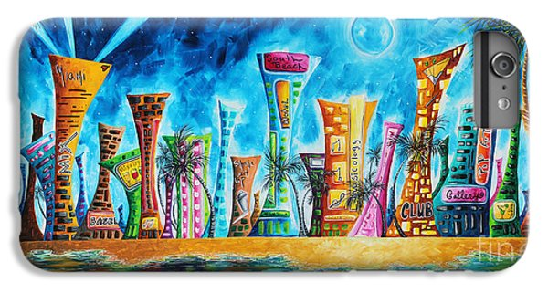 Miami City South Beach Original Painting Tropical Cityscape Art Miami Night Life By Madart Absolut X IPhone 6s Plus Case