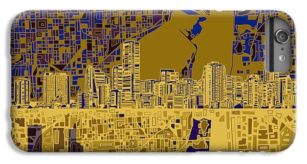 Miami Skyline iPhone 6s Plus Case - Miami Skyline Abstract 3 by Bekim Art