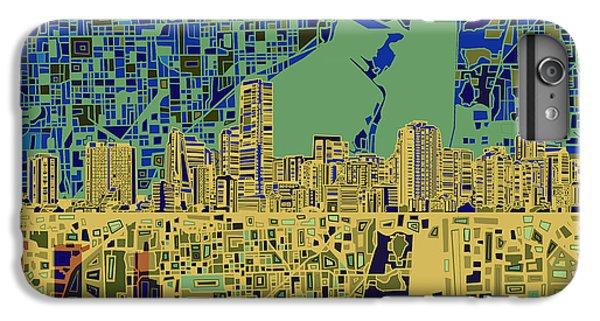 Miami Skyline iPhone 6s Plus Case - Miami Skyline Abstract 7 by Bekim Art