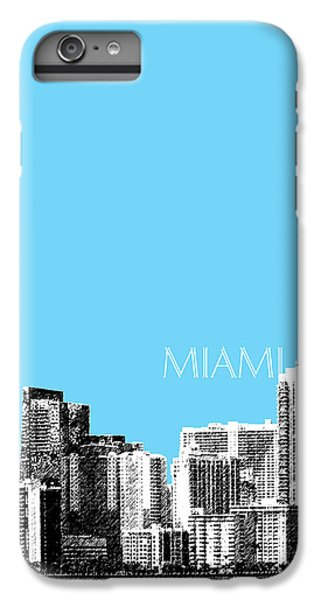 Miami Skyline - Sky Blue IPhone 6s Plus Case by DB Artist