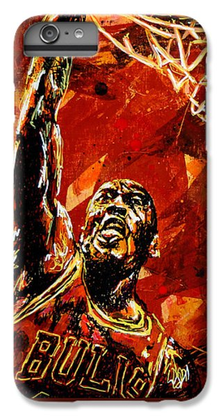 Wizard iPhone 6s Plus Case - Michael Jordan by Maria Arango