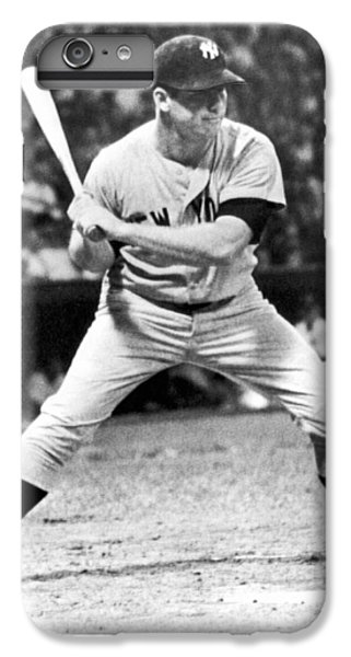 Mickey Mantle At Bat IPhone 6s Plus Case by Underwood Archives