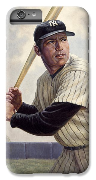 Babe Ruth iPhone 6s Plus Case - Mickey Mantle by Gregory Perillo